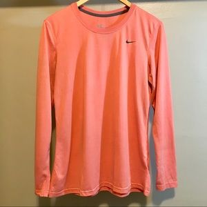 Nike Long Sleeve Athletic Shirt with Dri-Fit Sz L